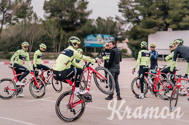 car park wheelie by John DEGENKOLB (DEU/Trek-Segafredo) <br /> <br /> Team Trek-Segafredo training camp<br /> Mallorca jan2019<br /> <br /> ©kramon