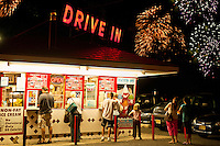 Custard stand with 4th of July display, Maple Shade, NJ, New Jersey