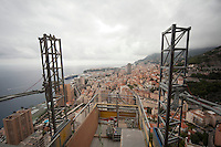 View of Monaco from the 49th floor of the Tour Odéon, currently under construction, Monaco, 18 October 2013