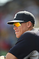 New York Yankees outfielder Aaron Judge (99) during a Spring Training game against the Pittsburgh Pirates on March 5, 2015 at McKechnie Field in Bradenton, Florida.  New York defeated Pittsburgh 2-1.  (Mike Janes/Four Seam Images)