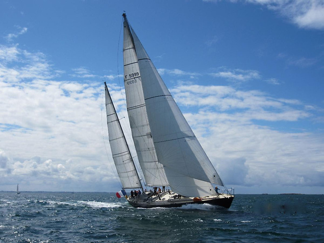 Pen Duick VI - The 73ft aluminium maxi competed in the first Whitbread Round the World Race in 1973-74 and is being sailed by Marie Tabarly © Pen Duick VI