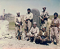 Iraq 1982 .Sitting left, Akram Agha with his peshmerga in Qalachin on the border of Iran.Irak 1982 .Assis a gauche, Akram Agha avec ses peshmergas a Qalachin sur la frontiere iranienne
