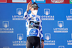 Romain Bardet (FRA) Team DSM retains the mountains Polka Dot Jersey at the end of Stage 16 of La Vuelta d'Espana 2021, running 180km from Laredo to Santa Cruz de Bezana, Spain. 31st August 2021.     <br /> Picture: Luis Angel Gomez/Photogomezsport   Cyclefile<br /> <br /> All photos usage must carry mandatory copyright credit (© Cyclefile   Luis Angel Gomez/Photogomezsport)