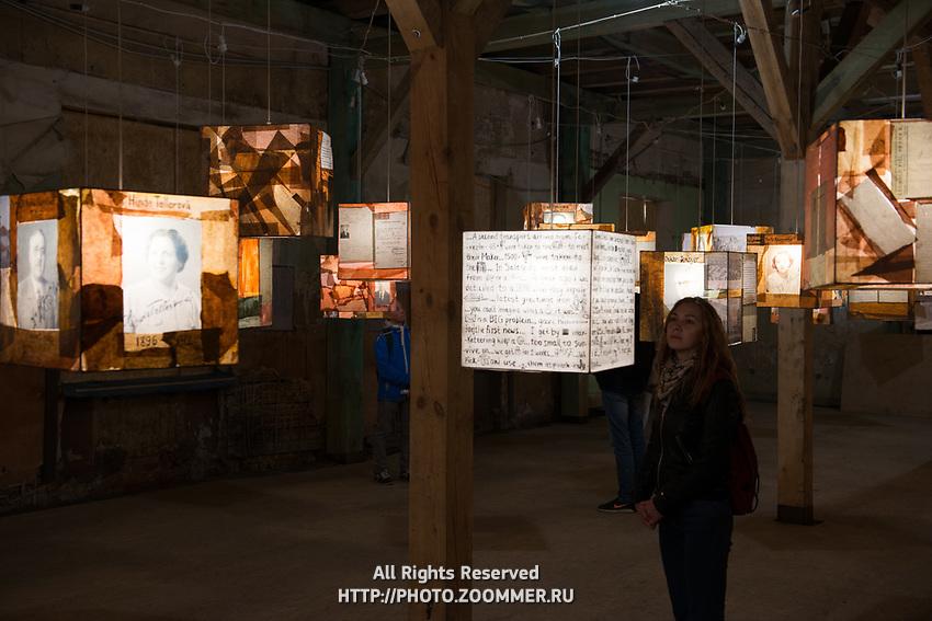 Girl in Riga ghetto and holocaust museum