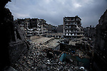 """""""Little Stalingrad"""" is what the local residents call the besieged neighborhood of Karmel Jabl in the heart of Aleppo, 12/06/2012"""