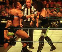 Dwayne The Rock X Pac 1998<br /> Photo By John Barrett/PHOTOlink