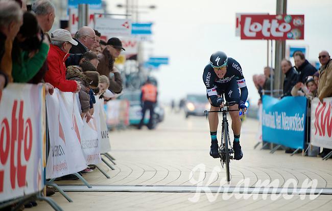 Martin Velits (SVK) finishing<br /> <br /> 3 Days of West-Flanders 2014<br /> day 1: TT/prologue Middelkerke 7,0 km