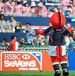 The Mascot on Day 2 of the 2012 Cathay Pacific / HSBC Hong Kong Sevens at the Hong Kong Stadium in Hong Kong, China on 24th March 2012. Photo © Felix Ordonez / PSI for FastTrack HSBC