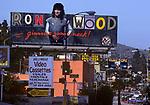 Ron Wood billboard on Sunset Strip circa 1979