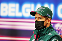 26th August 2021; Spa Francorchamps, Stavelot, Belgium: FIA F1 Grand Prix of Belgium, driver arrival day:  5 Sebastian Vettel GER, Aston Martin Cognizant F1 Team