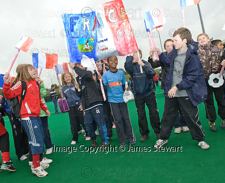 PUPILS FROM FLORA STEVENSON TEAM UP WITH FRANCE AS THEY TAKE PART IN THE TOUCH WORLD CUP YOUTH FESTIVAL AT PEFFERMILL.