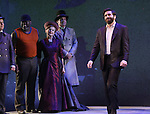 Brooks Ashmanskas, Phillip Boykin, Robert Sean Leonard and Jake Gyllenhaal during the opening night performance curtain call bows for 'Sunday in the Park with George' at the Hudson Theatre on February 23, 2017 in New York City.