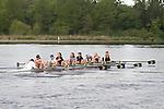 Rowing, Seattle, Pocock Rowing Center, Junior women's eight, workout, Lake Union, Washington State, spring, 2012,