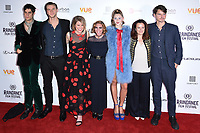 """Thomas Cohen, Wilf Scolding, Alice Eve, Josephine De La Baume, Hermione Corfield and director, Jack Eve<br /> arriving for the World premiere of """"Bees Make Honey"""" at the Vue West End, Leicester Square, London<br /> <br /> <br /> ©Ash Knotek  D3314  23/09/2017"""