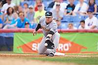 Trenton Thunder first baseman Tyler Austin (17) during a game against the Binghamton Mets on May 29, 2016 at NYSEG Stadium in Binghamton, New York.  Trenton defeated Binghamton 2-0.  (Mike Janes/Four Seam Images)