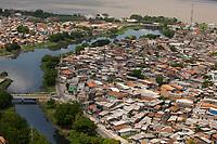 Vista aérea de diversos bairros da cidade sua periferia e canais.<br /> Belém, Pará, Brasil.<br /> Foto Paulo Santos<br /> 11/10/2014