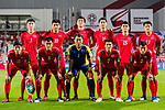 Players of North Korea line up and pose for a photo prior to the AFC Asian Cup UAE 2019 Group C match between Saudi Arabia (KSA) and North Korea (PRK) at Rashid Stadium on 08 January 2019 in Dubai, United Arab Emirates. Photo by Marcio Rodrigo Machado / Power Sport Images