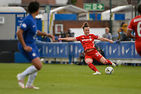 2nd May 2021; Kingsmeadow, London, England;  Marina Hegering FCB sitches play during the UEFA Womens Champions League, Chelsea FC versus FC Bayern Munich