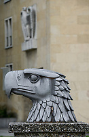 GERMANY, Berlin, airport Tempelhof built during Nazi Germany, eagle head