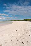 A remote beach on the island of Kiritimati, Kiribati.