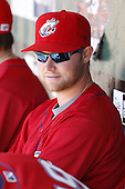 May 21, 2009:  Wes Hodges of the Columbus Clippers, International League Triple-A affiliate of the Cleveland Indians, during a game at Coca-Cola Field in Buffalo, NY.  Photo by:  Mike Janes/Four Seam Images