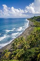 Windward (eastern) coast, St. Vincent, Caribbean, Atlantic