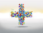 Illustrative image of cross shaped medicines