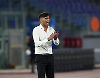 Roma s Paulo Fonseca incites his players during the Italian Serie A football match between Roma and Parma at Rome's Olympic stadium, July 8, 2020.<br /> UPDATE IMAGES PRESS/Isabella Bonotto