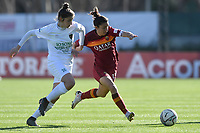 Bianca Bardin of Florentia and Elisa Bartoli of AS Roma compete for the ball during the Women Italy cup round of 8 second leg match between AS Roma and Florentia S.G. at stadio delle tre fontane, Roma, February 14, 2021. Photo Andrea Staccioli / Insidefoto