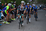 Simon Yates (GBR) Team BikeExchange and João Almeida (POR) Deceuninck-Quick Step on the final climb of Stage 17 of the 2021 Giro d'Italia, running 193km from Canazei to Sega Di Ala, Italy. 26th May 2021.  <br /> Picture: POOL Getty/LaPresse   Cyclefile<br /> <br /> All photos usage must carry mandatory copyright credit (© Cyclefile   POOL Getty/LaPresse)