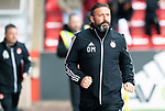 Aberdeen v St Johnstone…14.09.19   Pittodrie   SPFL<br />Dons boss Derek McInnes<br />Picture by Graeme Hart.<br />Copyright Perthshire Picture Agency<br />Tel: 01738 623350  Mobile: 07990 594431