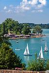 Oesterreich, Salzburger Land, Flachgau, Segelspass auf dem Mattsee | Austria, Salzburger Land, region Flachgau, sailing on Lake Mattsee