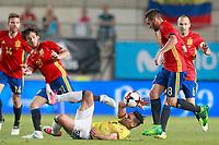 Spain's David Jimenez Silva (l) and Koke Resurreccion (r) and Colombia's Radamel Falcao during international friendly match. June 7,2017.(ALTERPHOTOS/Acero) (NortePhoto.com) (NortePhoto.com)