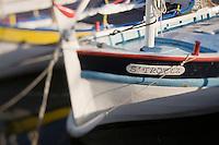 Europe/France/Provence-Alpes-Côte d'Azur/83/Var/ Saint-Tropez: Pointus, bateaux de pêche méditerranéens sur le port