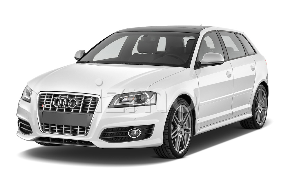 Front three quarter view of a 2009 - 2013 Audi S3 Sportback 5-Door Hatchback 4WD.