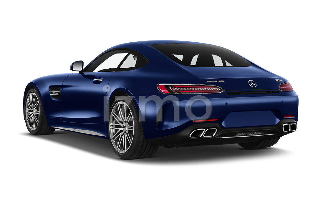 Car pictures of rear three quarter view of 2020 Mercedes Benz AMG-GT C 3 Door Coupe Angular Rear