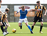 East Fife v St Johnstone…29.07.17… Bayview… Pre-Season Friendly<br />Callum Hendry holds off Ben Reilly<br />Picture by Graeme Hart.<br />Copyright Perthshire Picture Agency<br />Tel: 01738 623350  Mobile: 07990 594431