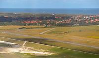Landebahn des Flughafens von Wangerooge - Wangerooge 20.07.2020: Flug nach Wangerooge