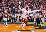 Clemson wide receiver Artavis Scott celebrates defeating Alabama for the 2017 College Football Playoff National Championship in Tampa, Florida on January 9, 2017.  Clemson defeated Alabama 35-31. Photo by Mark Wallheiser/UPI