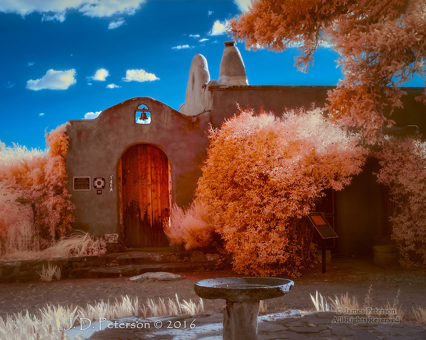 Couse-Sharp Artist Studios, Taos, New Mexico (Infrared) ©2016 James D Peterson.  This historic New Mexico compound embodies the spirit of the Old West as well as the early days of the Taos artist colony.