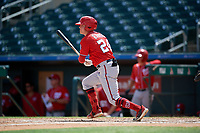 Washington Nationals Jake Randa (24) at bat during an Instructional League game against the Miami Marlins on September 25, 2019 at Roger Dean Chevrolet Stadium in Jupiter, Florida.  (Mike Janes/Four Seam Images)