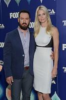 Mark Paul Gosselaar + wife @ the FOX summer TCA all star party held @ the Soho house.<br /> August 8, 2016
