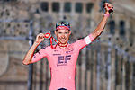 Magnus Cort Nielsen (DEN) EF Education-Nippo wins the overall aggressive rider award at the end of Stage 21 of La Vuelta d'Espana 2021, an individual time trial running 33.8km from Padron to Santiago de Compostela, Spain. 5th September 2021.    <br /> Picture: Luis Angel Gomez/Photogomezsport | Cyclefile<br /> <br /> All photos usage must carry mandatory copyright credit (© Cyclefile | Luis Angel Gomez/Photogomezsport)