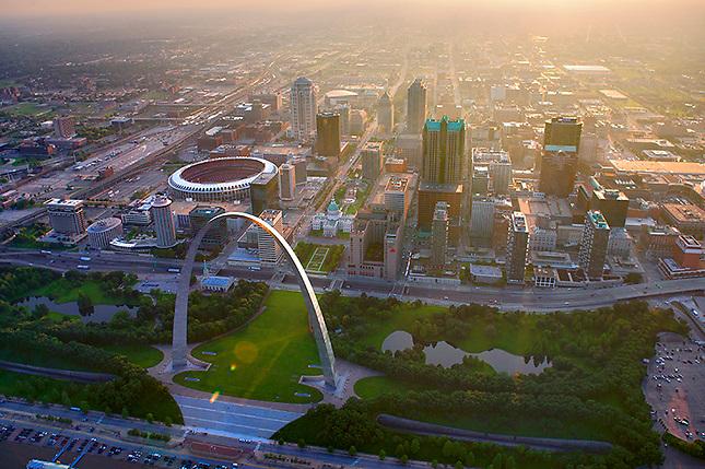 Evening light over St Louis