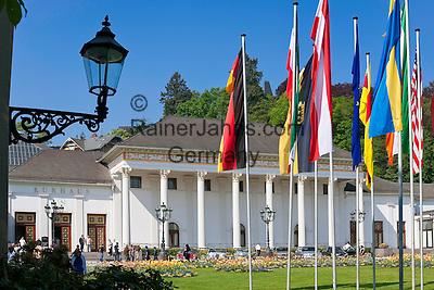 Germany, Baden-Wuerttemberg, Baden-Baden: spa building with the famous Casino Baden-Baden at spa gardens   Deutschland, Baden-Wuerttemberg, Baden-Baden: Kurhaus mit dem beruehmten Casino Baden-Baden im Kurpark