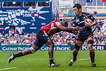 Japan vs Trinidad & Tobago during the Cathay Pacific / HSBC Hong Kong Sevens at the Hong Kong Stadium on 28 March 2014 in Hong Kong, China. Photo by Juan Flor / Power Sport Images