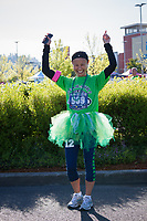 Beautiful Asian girl wearing tutu, Seahawks 12K Run 2016, The Landing, Renton, Washington, USA.