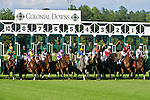 20 June 2009: Start of the Colonial Turf Cup (Gr II) stakes race. Battle of Hastings (GB), number 8, wins the race.