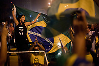 Celebration of the victory of right wing presidential candidate Jai Bolsonaro in Brazil election, Rio de Janeiro