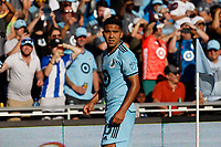 ST PAUL, MN - AUGUST 14: Emanuel Reynoso #10 of Minnesota United FC prepares for a corner kick during a game between Los Angeles Galaxy and Minnesota United FC at Allianz Field on August 14, 2021 in St Paul, Minnesota.